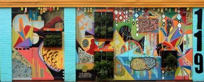 Photo of the vibrant Gallery Vertical Garden Mural