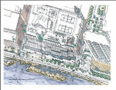 Example of design rendering for a city project